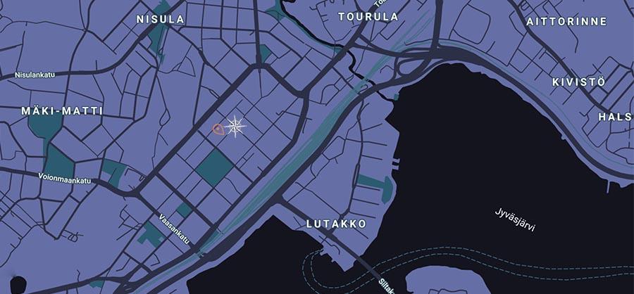 Map of Jyväskylä Mysteeri
